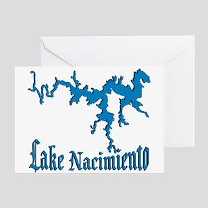 LAKE NACIMIENTO [4 blue] Greeting Card